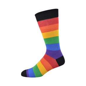 Bamboozld Mens Rainbow Proud Sock BBS17PROUD Assorted