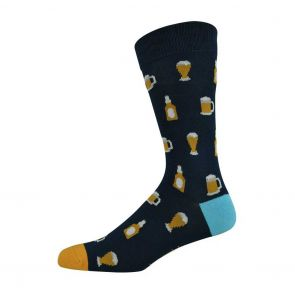 Bamboozld Mens Beer Sock BBS18BEER Navy