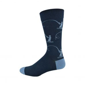 Bamboozld Mens Gone Fishing Sock BBS18FISHIN Navy