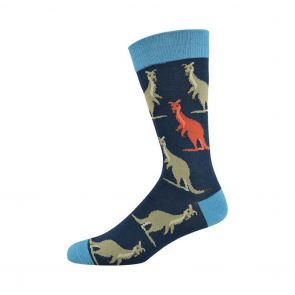 Bamboozld Mens Kanga Sock BBS18KANGA Navy/Red