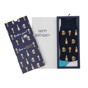 Bamboozld Mens Beer Sock Card BBS19BEERCARD Navy