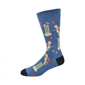 Bamboozld Mens How's That Cricket Sock BBS19HOWZAT Blue