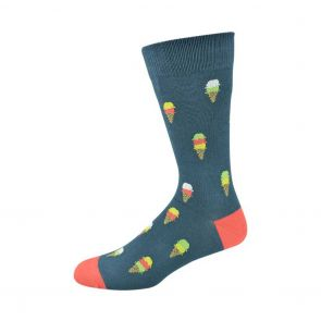 Bamboozld Mens Ice Cream Sock C-BBS19ICECREAM Blue Steel
