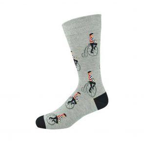 Bamboozld Mens Penny Farthing Sock C-BBS19PENNYFARTHING Grey