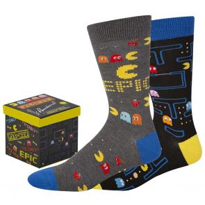 Bamboozld Mens Pacman Gift Box 2-Pack BBS21GB2PKPACMAN Assorted