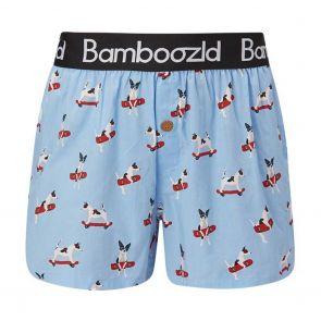 Bamboozld Mens Boxer Short Jack Russell BBUW20BJACKRUSS Sky Blue