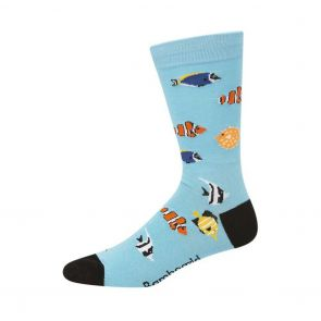 Bamboozld Mens Aquarium Sock BBW20AQUA Bright Blue