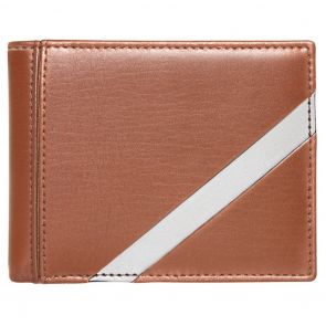 Stewart Stand Stainless Steel Leather Tech Bifold Wallet BF5002 Tan