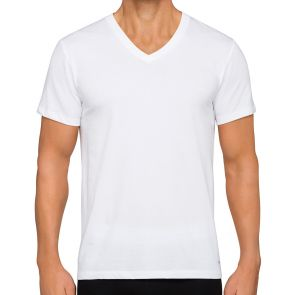 Calvin Klein Cotton Class Short Sleeves 3 Pack V-Neck Tee BM4065 White