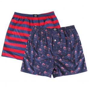 Coast Clothing Cotton Boxers 2 Pack 19CCU506 Boats