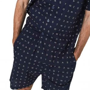 Coast Clothing Signature Essential Button Up PJ Set 19CCS338 Navy