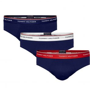 Tommy Hilfiger Premium Essentials Cotton Stretch Brief 3-Pack 1U87903766 Multi/Peacoat
