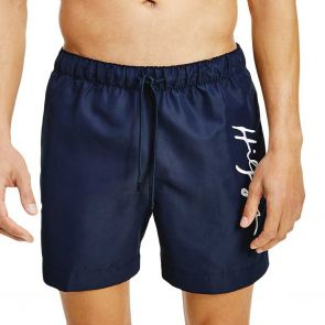 Tommy Hilfiger Signature Logo Mid Length Swim Shorts UM0UM02060 Navy