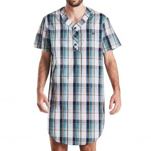 Coast Clothing Short Sleeve Woven Nightshirt 20CCS333 Checks