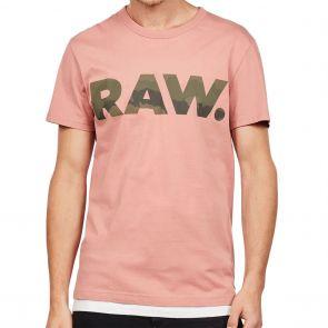 G-Star Raw Graphic 6 T-Shirt D15245 Dark Tea Rose