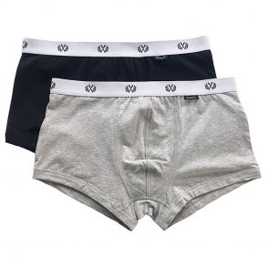 Coast Duke Short Boxer Trunk 2-Pack Black/Grey