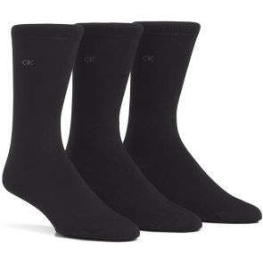 Calvin Klein Mens Eric Cotton Dress Socks 3 Pack E91219 Black