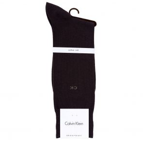 Calvin Klein Liam 14 Gauge Cotton Flat Knit Crew Socks ECB212 Chocolate