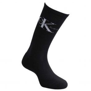 Calvin Klein Jeans Retro Logo Crew Socks ECD261 Black/White