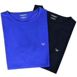 Emporio Armani T-Shirt 2-Pack 111267 7A722 Marine/Electric Blue
