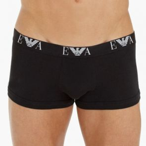 Emporio Armani Cotton Stretch Boxer Trunk 2 Pack 111210 Black