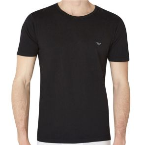 Emporio Armani Cotton Crew Neck 3 Pack T-Shirt 110821 CC712 Black