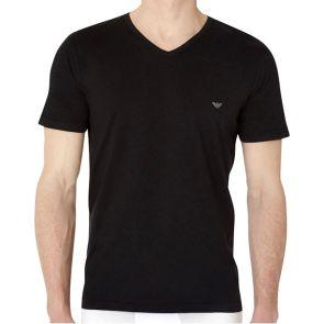 Emporio Armani Cotton V Neck 3 Pack T-Shirt 110856 CC712 Black