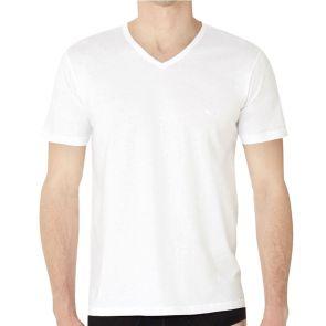 Emporio Armani Cotton V Neck 3 Pack T-Shirt 110856 CC712 White
