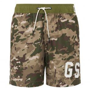 G-Star Raw Dirik Swim Shorts All-Over D14115 Khaki/Army Green