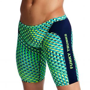 Funky Trunks Training Swim Jammers FT37M Green Gator