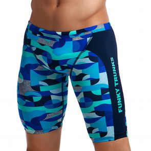 Funky Trunks Training Swim Jammer FT37M Sea Spray