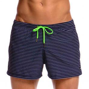 Funky Trunks Shorty Shorts Swim Short FT40M White Stripes