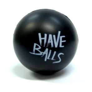 Funky Trunks Have Balls Stress Ball Black