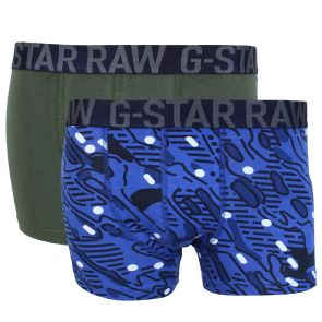 G-Star RAW Dal Sport Trunk 2 Pack 88449F 2058 5513 Pacific/Forest Night