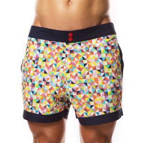 Hey Franky Circuit Beach Shorts Triangles HF015S Multi