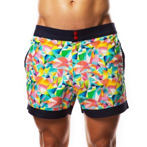 Hey Franky Circuit Beach Shorts Geometric HF017S Multi