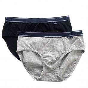 Coast Ned Brief 2-Pack Black/Grey