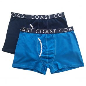 Coast Joe Long Boxer Trunk 2-Pack Cobalt/Navy
