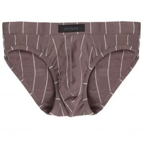 Heidi Klum Man High Tech Cotton Mens Brief K46-122 Charcoal Grey Stripe