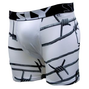 Sly Underwear Keep Out Mens Boxer BUPKPO Black/White