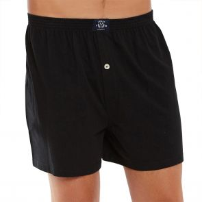 Coast Mens Knit Boxer Short MCBS2380 Black