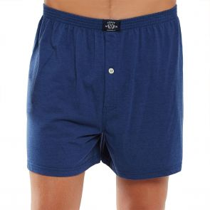 Coast Mens Knit Boxer Short MCBS2380 Navy Marle