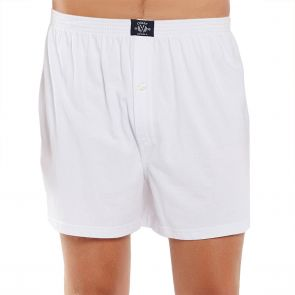 Coast Mens Knit Boxer Short MCBS2380 White