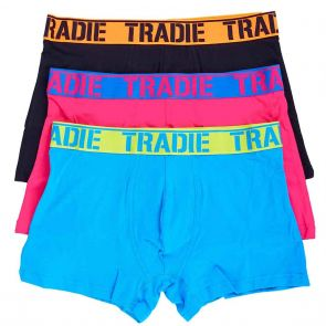 Tradie 3 Pack Fitted Trunks MJ1194WK3 Explosive