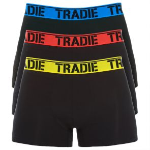 Tradie 3 Pack Fitted Trunks MJ1194WK3 Brights