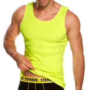 Tradie National Hi Vis Singlet MJ1653SC Yellow