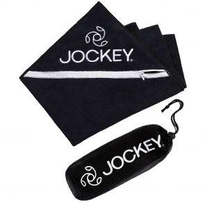 Jockey Zip Pocket Sports Towel & Carry Bag Black