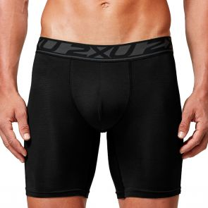 2XU Perform 9 Inch Boxer Brief MU4782b Black/Black