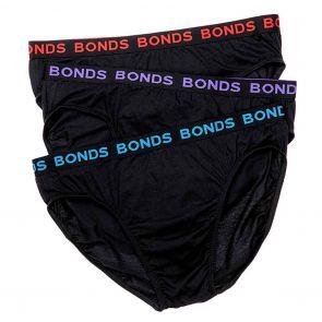 Bonds Hipster Brief 3 Pack MXP83A Black