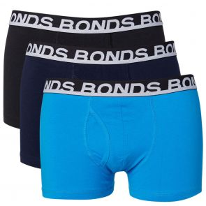 Bonds Easy Trunk 3-Pack MXQPA Black and Blue